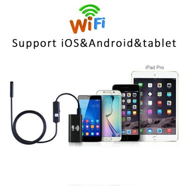 8mm Lens Wifi Android Iphone Endoscope Camera 1M 2M  Waterproof Snake  - Cacak