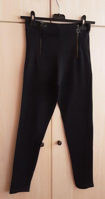 Προσωπικά αντικείμενα - Ελλαδα: Κολάν με φερμουάρ, size : S, χρώμα : σκούρο γκρι, φορεμένο 2 φορές