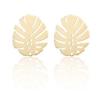 Женские богемные серьги-гвоздики, золотистые геометрические
