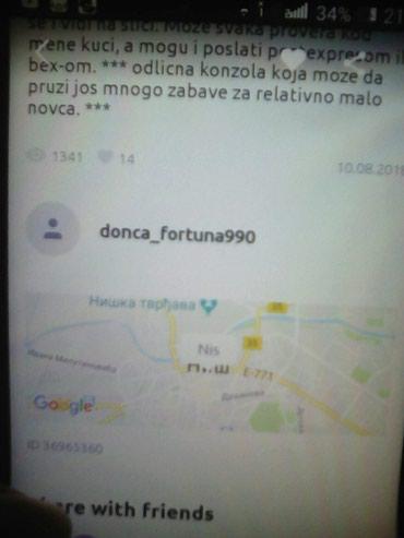PREVARANT PAZNJA Sony 2 pazite prevarant upisan kao Donca_Fortuna - Loznica