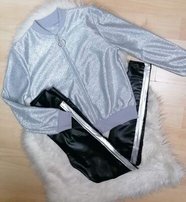 Ženski kaputi - Srbija: Jaknica srebrna 1600 Helanke kozne 1250