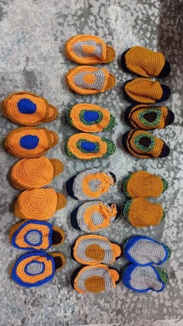 детские платья со шлейфом в Кыргызстан: Тапочки ручной вязки, взрослые детские