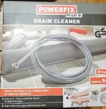 POWERFIX nova sajla, veoma kvalitetna, za čišćenje cevi, dužine 5m