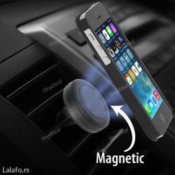 Magnetni drzac za telefon , montira se na otvor za ventilaciju u - Beograd - slika 4
