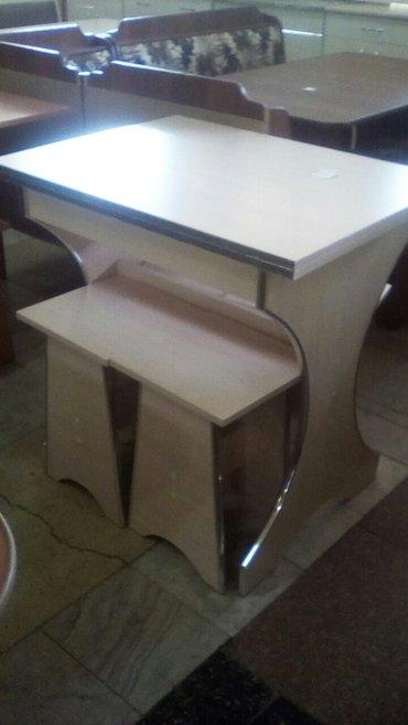 Новый кухонный стол+ 4 таб, размер 0. 6*0. 8,  в разложенном виде 0. 8 в Бишкек