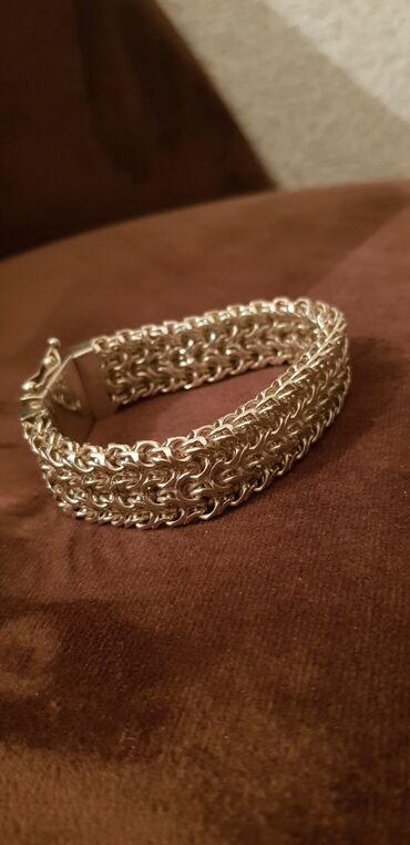жилье у моря в Азербайджан: Gümüş braslet Ramzes modeli. 925 təmiz gümüş qolbaq qatqısız. harda