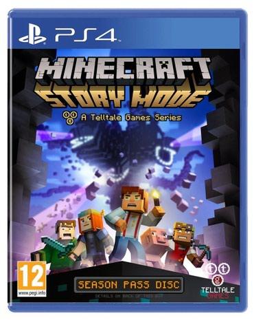 Ps4 üçün Minecraft story mode oyun diski satılır - Bakı