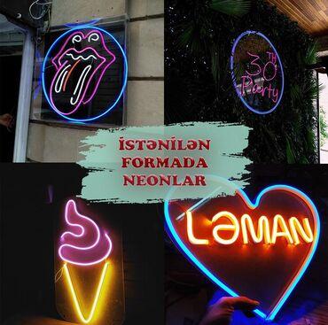 Neon istənilən forma, ad, logolarin duzəldilməsi İşimizə qarant