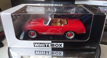 Коллекционная модельMercedes-Benz 230SL W113 Pagode Red 1965White