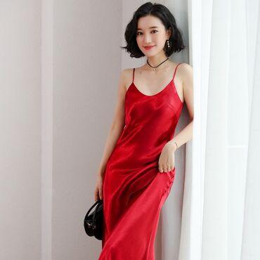 летние платья оверсайз в Кыргызстан: Новое платье из Европы французского бренда Jennyfer красного цвета