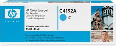 hp color laserjet cp1215 в Кыргызстан: Картридж HP C4192A оригинал.голубойНазначениеHP Color LaserJet 4500