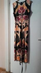 Prelepa duga haljina nova sa velikim slicevima sa strane i dugi uzani