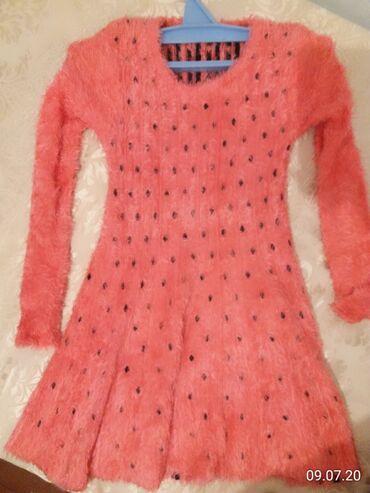 Платье Клубника зимняя. Очень мягкая . Цвет сочный чем на фото в