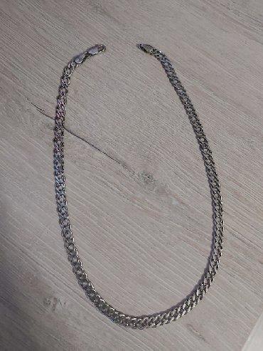 цепь серебряная в Кыргызстан: Продаю мужскую серебряную цепь, длина 45 см. 925 проба