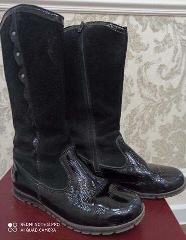 Продаю обувь на девочку: Сапоги осенние с утеплителем, лаковая кожа и