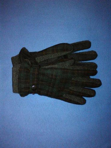 Muske rukavice,marka h&m,karirano crne boje,m velicine,od - Nis
