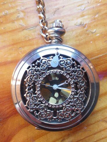 41 elan | İDMAN VƏ HOBBI: Cib saatı. Saat gümüşdür. 50 ildəndə əvvələ aiddir. İşləmir şəkildə