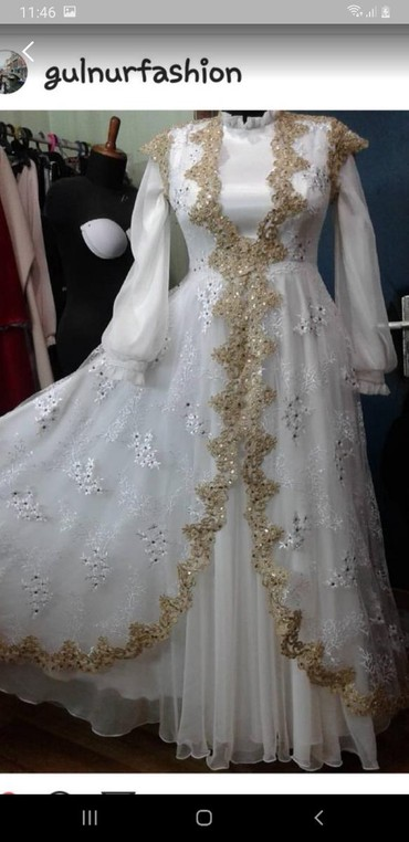 свадебное платье напрокат в Кыргызстан: Сдаю мусульманский свадебное платье на прокат 2 разных платье разм