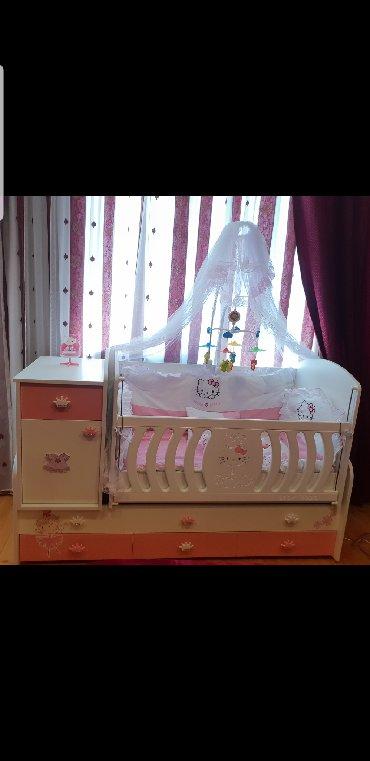 детская одежда 2 года в Азербайджан: Продается детская кроватка.Делалась на заказ В ней спал младенец 3