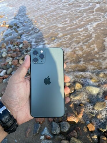 Электроника - Бактуу-Долоноту: IPhone 11 Pro   256 ГБ   Зеленый Б/У   Face ID, С документами