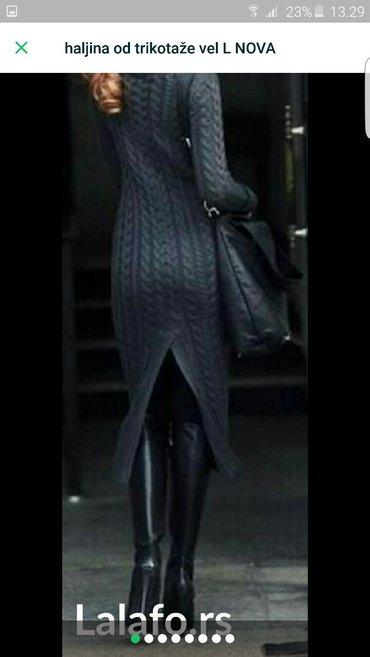Haljina trikotaza nova tamno siva - Pozarevac