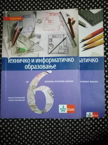 Tehnika - Srbija: Tehničko Klett za 6 razred, knjiga i radna sveska, cena je za obe, rad