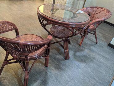 Комплекты столов и стульев - Кыргызстан: Ротанговая мебель. Натуральный ротанг. Индонезия. Новые. за комплект