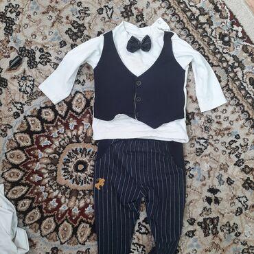 детские костюмчик в Кыргызстан: Продаю детский костюмчик тройка одевали 2 раза до года. Мы одевали на