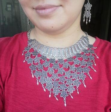 Украшения - Бишкек: Красивое украшение на шею и серьги. Турция