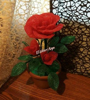 Bakı şəhərində El ishim muncuqdan roza her reng her qiymete ve her zovqe var.