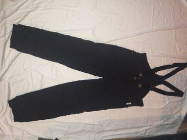 Ski pantalone crne sa tregerima - kao nove - Prokuplje