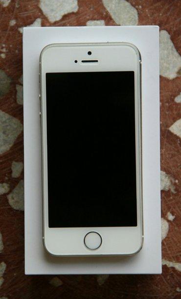 Gəncə şəhərində Iphone 5S ag 16GB - 260AZN. Ela veziyetdedir. Hec bir cizigi yoxdur. H