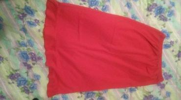 Boja-crvena - Srbija: Crvena suknja/haljinicaMoze da se kombinuje kao duga suknja, a moze da