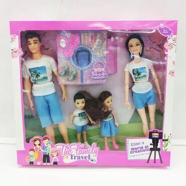 Куклы в наборе семья.Полностью готовые с прогулки по городу куколки