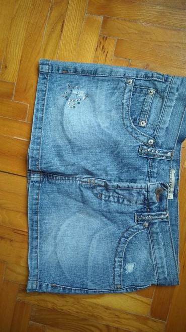 Ženska odeća | Batocina: Mini teksas suknjica,velicina S,nosene par puta bez tragova