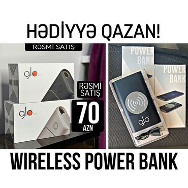 fiksiklr-il-pazllar - Azərbaycan: Glo pro! + power bank (qara/ag) hədi̇yyə!! 🔥70 azn🔥tütünü yandırmadan