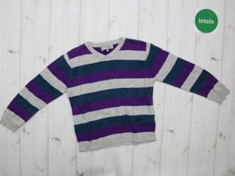 Детский свитер в полоску Rebel, возраст 5-6 лет    Длина: 42 см Рукав