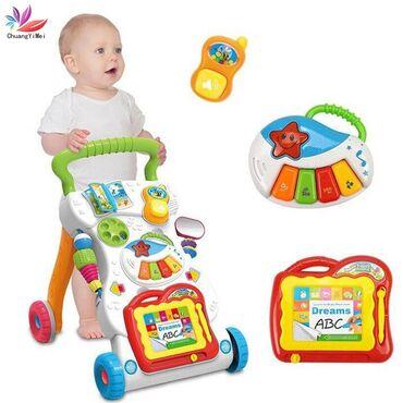 Каталка ходунок, толкач Ходунки помогают ребенку учиться стоять