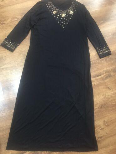 чёрное платье размер 50 52 в Кыргызстан: Платье длинное Турция  Размер 48-50-52  Новое