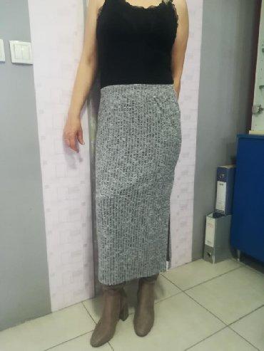 Duga suknja extra rebrasti pamuk sa elastinom Vel S M L Povoljno - Batajnica