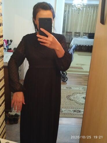 шикарные вечерние платья в пол в Кыргызстан: Новое Платье черного цвета, шикарно сидит на фигуре, в пол,гафре низ