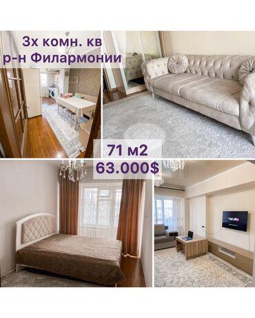 бу мебель in Кыргызстан | ДРУГАЯ МЕБЕЛЬ: 3 комнаты, 71 кв. м Бронированные двери, Видеонаблюдение, С мебелью