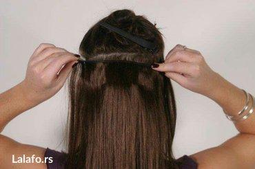 Nadogradnje za kosu na klipse u svim bojama. Kosa je poluprirodna i ot - Pancevo