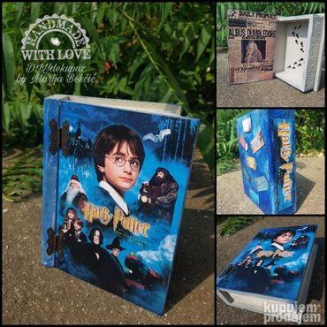Kuća i bašta   Varvarin: Kutija-knjiga (20x17cm) za ljubitelje Harry Potter-a uradjene dekupaz