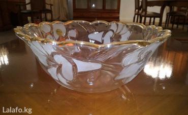Красивая фруктовница с золотой в Бишкек