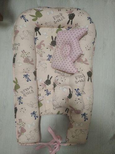 спящий ребенок на подушке в Кыргызстан: Детский кокон две подушки в подарок