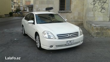Bakı şəhərində Nissan teana 2004 il,avtomat,ag mirvari reng,4 eded yeni teker,salon
