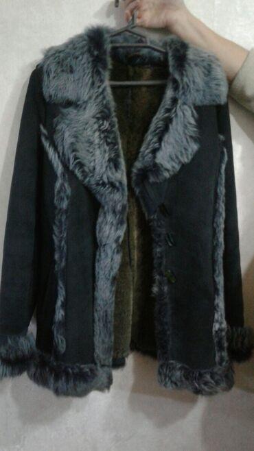 женские дутые жилетки в Азербайджан: Дубленка женская 48 50размер зеленый цвет за 50ман
