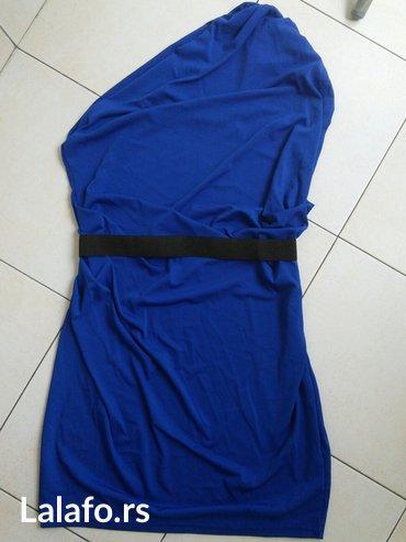 Sniženje! Plava haljina na jedno rame, potpuno nova. Zanimljiv - Crvenka