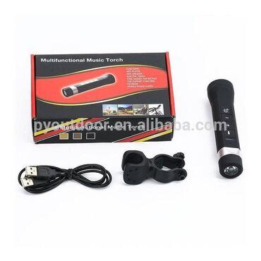 Продам велосипедный фонарик 5 в 1,BT,FM-радио,SD-карта,громкая